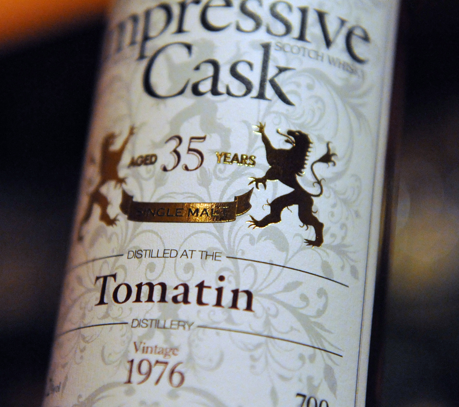 Impressive Cask TOMATIN 1976 35yearold